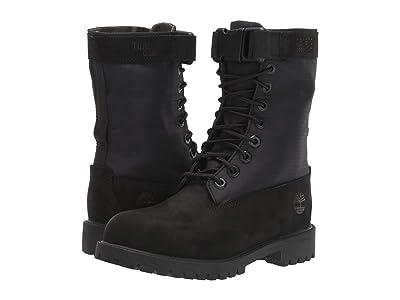 Timberland Kids 6 Premium Gaiter Boot (Big Kid) (Black Nubuck) Kids Shoes
