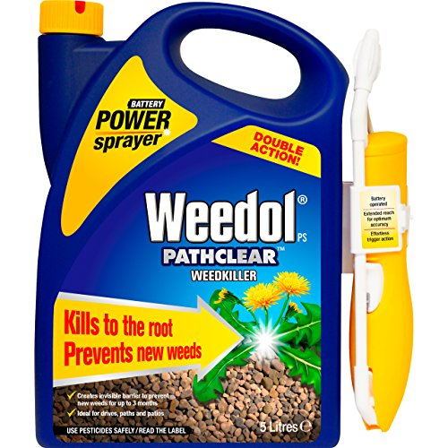 Weedol Pathclear Double Action Weedkiller, Battery Operated Power Sprayer, 5 Litre