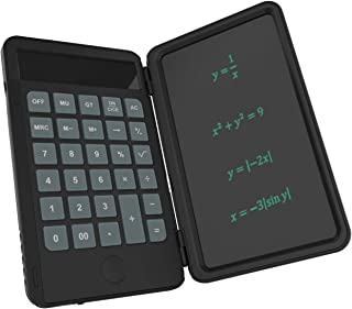 Basic Calculator Notepad with 6.5Inch LCD Writing Tablet,Rechargeable Drawing Board,Lock Button and E-Pen,12 Digit Display...