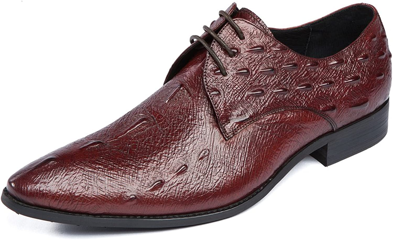 b26ffdb552e6 Dilize Dilize Dilize Men's Premium Embossed Leather Lace up Derby ...