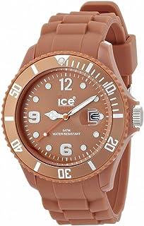 ICE-Watch - Montre Mixte - Quartz Analogique - Ice-Chocolate - Caramel - Big - Cadran Marron - Bracelet Silicone Marron - ...