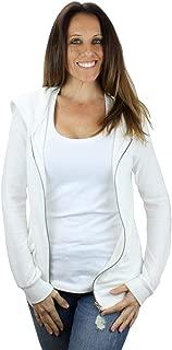 Women's Ultra Soft Zip-Up Hooded Sweatshirt - Cute Comfy Fitted Lounge Hoodie