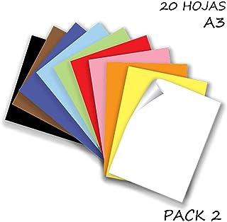 Starplast, Pack 2 Blocs de Papel, Cartulinas, 20 Hojas A3,
