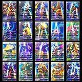 TOSOTO Cartas Pokémon,Juego de cartas de Pokémon de 120 piezas, cartas de juego de dibujos animados para niños, cartas de comercio GX con 95 cartas de Pokémon GX y 5 cartas de Mega