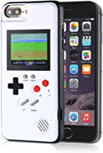 Gameboy iPhone Case Playable Gameboy Case for iPhone, 36 Classic Games Full Color Display Handheld Game Console Gameboy Phone Case Retro Gaming Phone Case Protective Cover (White, iPhone 6/6S/7/8)