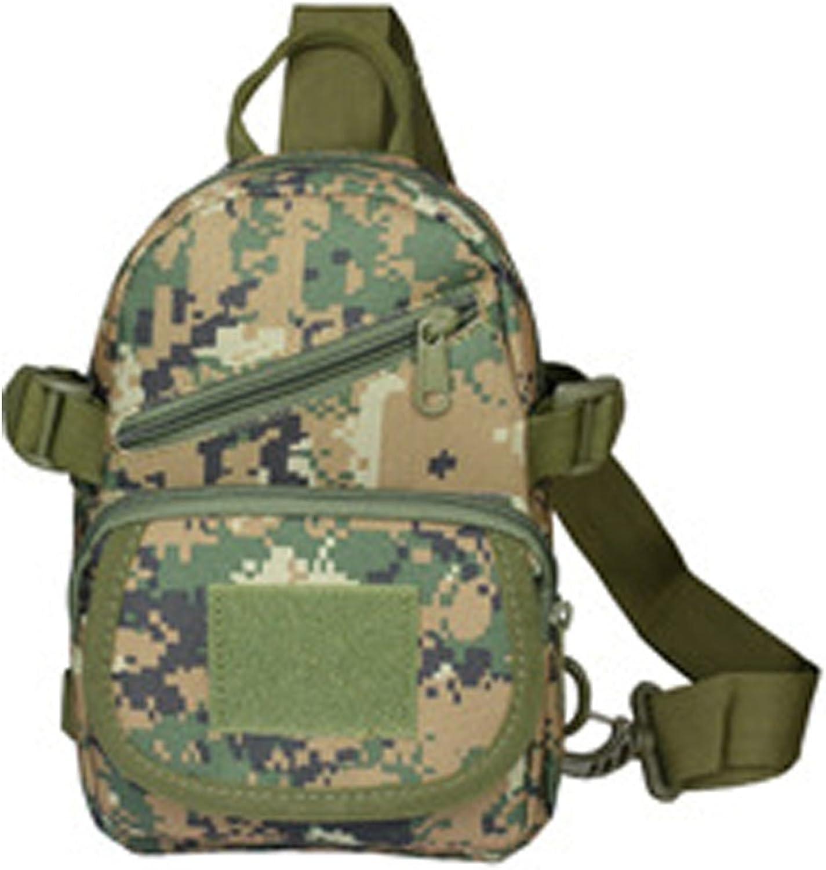 OXU Mens oxford Zipper Closure Camouflage Outdoor One Shoulder Bag