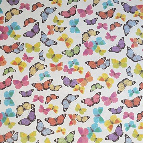 Tassotti Tassotti-Papier mit bunten Schmetterlingen, 85 g/m²