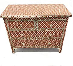 Terracotta Semi Geo Mother of Pearl Chest