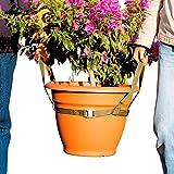 Unbekannt Kübeltragegurt, Blumentopf-Transporter Tragegurt Tragehilfe Pflanzenkübel Gartenhelfer Pflanzentopf