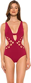 Becca by Rebecca Virtue Women's Plunge Monokini Cutout One Piece Swimsuit