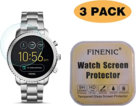 No White Edge 3 Pack Screen Protector 9H Tempered Glass Easy-Install FINENIC Compatible with Fitbit Surge smartwatch /…