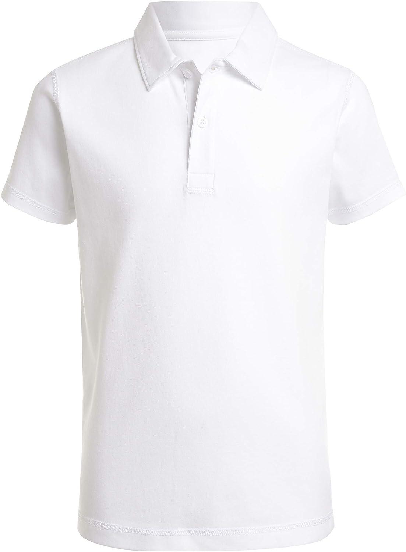 Nautica Boys' School Uniform Sensory-Friendly Short Sleeve Polo
