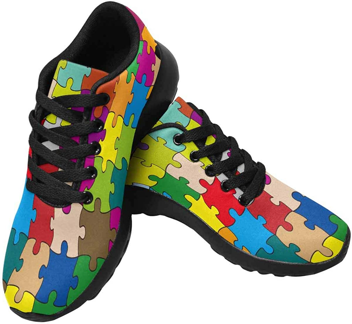 InterestPrint Womens Jogging Sneakers Outdoor Sport Cross Training Shoes 64 Pieces Puzzle