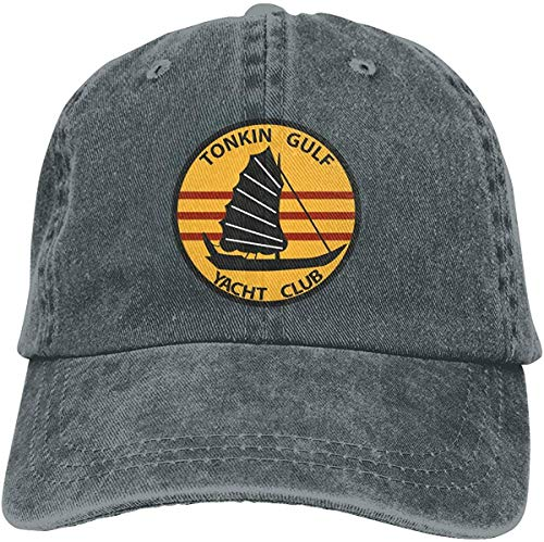 Us Navy Tonkin Gulf Yacht Club Patch Military Veteran Unisex Hat Leisure Headgear Comfortable Headdr Classic Headdr