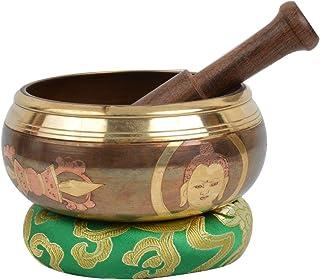 La meditación Cuenco Tibetano con la talla de la mano y pouch- protectora TALLA-1- (Pequeño)