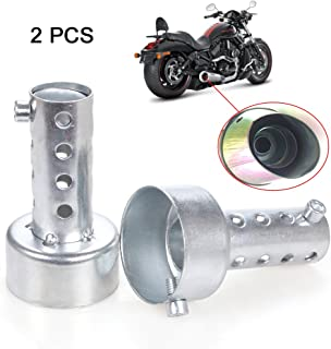 EFORCAR Exhaust Pipe Muffler,2pcs Motorcycle Exhaust DB Killer Muffler Adjustable Exhaust Silencer 48mm