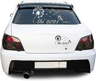 Sunnywall Abi 2021 2022 2023 Pusteblume Schmetterling Autotattoo Heckscheibe Aufkleber (Art. Nr. 370)