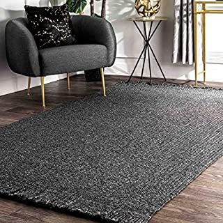 """nuLOOM Courtney Braided Indoor/Outdoor Area Rug, 8' 6"""" x 11' 6"""", Charcoal (B07QYPBBK2) 