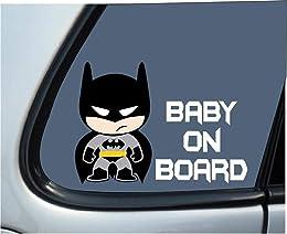 Batman sticker mural Batman bébé enfants à bord po