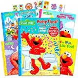 Sesame Street Elmo Potty Training Book Set -- Potty Coloring and Activity Book with Chart, Reward Stickers and Checklist (Includes 4 Storybooks: ABC, Colors, Rhymes, Bedtime)