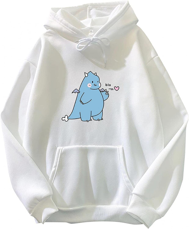 Hotkey Max 85% OFF Y2k Sweatshirt for Women Fashion Austin Mall Women's Pullov Dinosaur