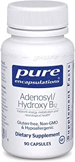 Pure Encapsulations - Adenosyl/Hydroxy B12 - Hypoallergenic Blend with Vitamin B12 for Nerve and Mitochondrial Support* - 90 Capsules