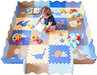 Baby Play Mat with Fence Dinosaur Style with 18 Patterns Thick (0.56