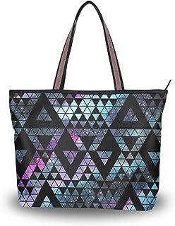 My Daily Damen-Schultertasche, geometrische Dreiecke, Handtasche