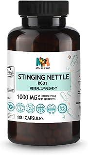 Stinging Nettle Root 100 Vegan Capsules, 1000MG, Organic Stinging Nettle Root (Urtica Dioica)