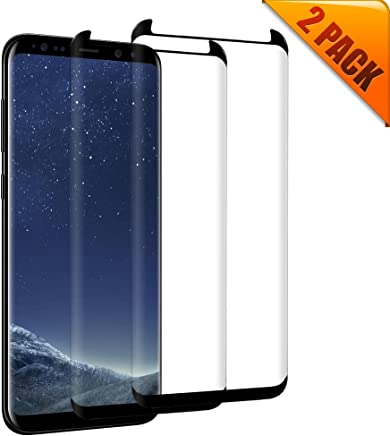 [2-Pack] Galaxy S8 Plus Tempered Glass Screen Protector,[No Bubbles