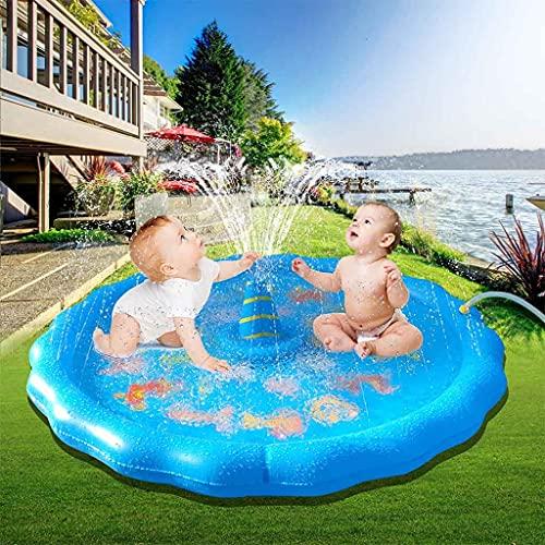 Sprinkler y salpicaduras de salpicaduras de salpicaduras de agua para niños, juegos de almohadillas de aerosol inflables con piscina para niños, regalos de juguetes de fiesta al aire libre de dibujos