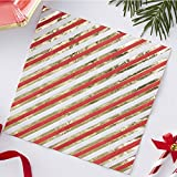 Ginger Ray Christmas Gold Foiled Candy Cane Stripe Paper Party Napkins 20 Pack, Multicoloured