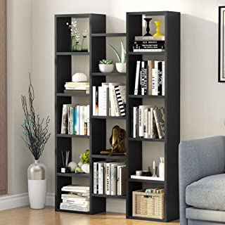 Tribesigns Modern Bookcase, 5-Shelf Storage Organizer Bookshelf with 14-Cube Display Book Shelf for Home Office, Living Room and Bedroom (Black)