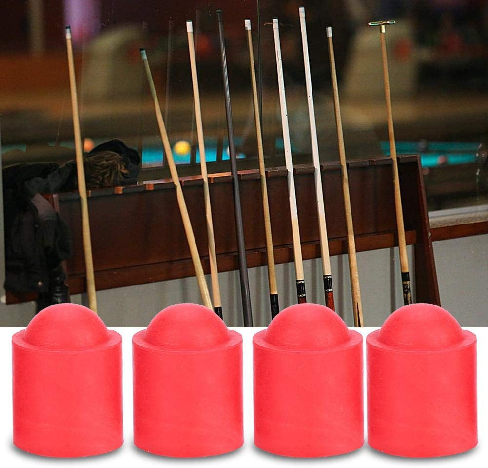 Alomejor 10pcs Pool Cue Tip Pool Cue Cap Rubber Cover Billiards Cues Stick Protection Cap for Snooker Cue Tip Pool Billiards Accessories