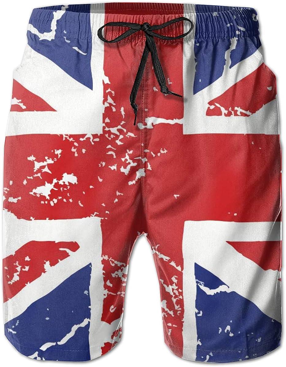 Men's Beach Shorts Swim Trunks Quick Dry Bathing Suit (Cool White Tiger King)