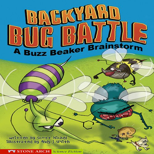 Backyard Bug Battle audiobook cover art