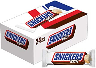 SNICKERS White Chocolate Singles Size Candy Bars 1.41-Ounce (Pack of 24)