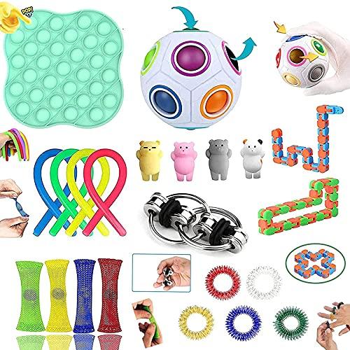 Fidget Toys, Fidget Toys Pack Sensory toys for Soulager le Stress et l anxiété, Anti Stress Toys pour Enfants, Adultes, Couples Cadeau