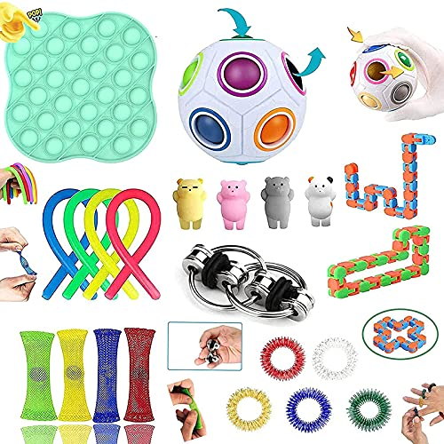 Fidget Toys, Fidget Toys Pack Sensory toys for Soulager le Stress et l'anxiété, Anti Stress Toys pour Enfants, Adultes, Couples Cadeau