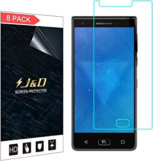 J&D Compatible for 8-Pack BlackBerry Motion Screen Protector, [Not Full Coverage] Premium HD Clear Film Shield Screen Protector for BlackBerry Motion Crystal Clear Screen Protector