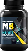 MuscleBlaze MB-VITE Multivitamin with 24 vitamins and Minerals essential for Daily health and Bodybuilding, 60 tablets