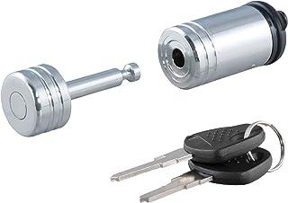 CURT Trava de acoplador cromado para reboque 23520, diâmetro do pino de 0,6 cm, extensão de até 2,2 cm