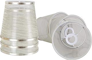 DULEE - Pantalla para lámpara de araña (15,24 cm (6 pulgadas), hecha a mano), metal, dorado, E14 with 6 pack