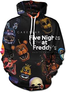 Men's Five Nights at Freddy's Game 3D Print Pullover Hooded