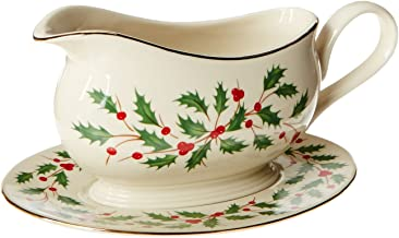 Lenox 843318 Holiday Gravy Boat and Stand