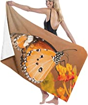 Song Shop Mall Microfiber Beach Towel Maple-Colored Butterfly Nectar Art Bath Towel Beach Blanket Quick Dry Towel for Travel Swim Pool Yoga Camping Gym Sport -30