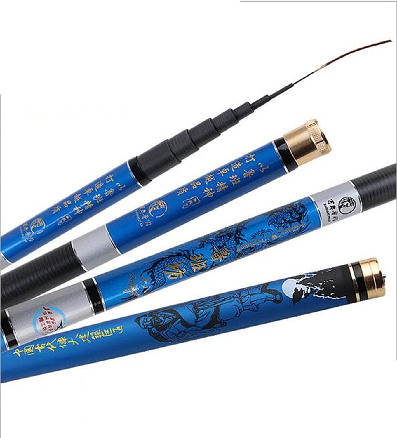 Portable Superhard Stream Fishing Rod High Carbon Material River Stream Reservoir Lake, Contraction Length 72 cm
