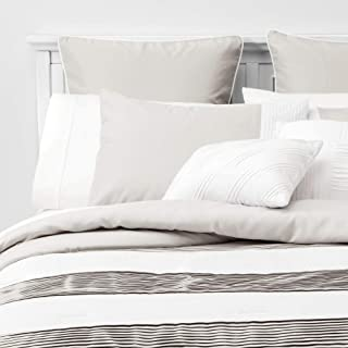 Unbranded 8pc Alma Pleated Comforter Set Gray Queen