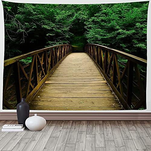 Paisaje natural bosque verde tapiz colgante de pared dormitorio paisaje primitivo árbol gigante colgante de pared alfombra alfombra A4 100x150cm