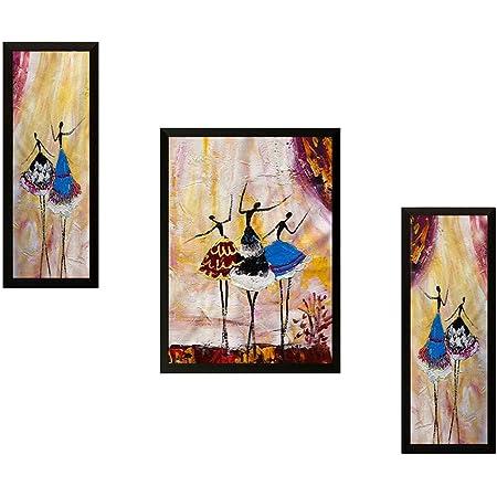 SAF Set of 3 Modern Art Digital Reprint 22 inch x 14 inch Painting (6517) SANFSM6517